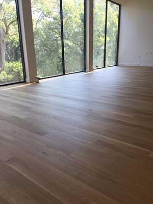 New residential build with white oak floors